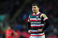 Ben Youngs of Leicester Tigers looks on during a break in play. Aviva Premiership match, between Leicester Tigers and Saracens on January 1, 2017 at Welford Road in Leicester, England. Photo by: Patrick Khachfe / JMP