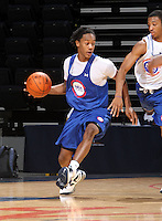 Levi Randolph at the NBPA Top100 camp at the John Paul Jones Arena Charlottesville, VA. Visit www.nbpatop100.blogspot.com for more photos. (Photo © Andrew Shurtleff)