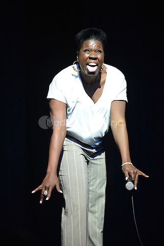 """MIAMI - MAY 27: Comedian Leslie """"Big Les"""" Jones performs during 5th Annual Memorial Weekend Comedy Festival at the James L. Knight Center on May 27, 2010 in Miami, Florida. (photo by: MPI10/MediaPunch Inc.)"""
