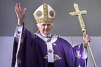 Pope Benedict XVI visit  of San Giovanni Battista de La Salle, in the Rome.March 4, 2012.