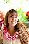 The Four Seasons Resort Hualalai at Historic Kaupulehu on the Big Island of Hawaii. A local hula dancer who works at the hotel.