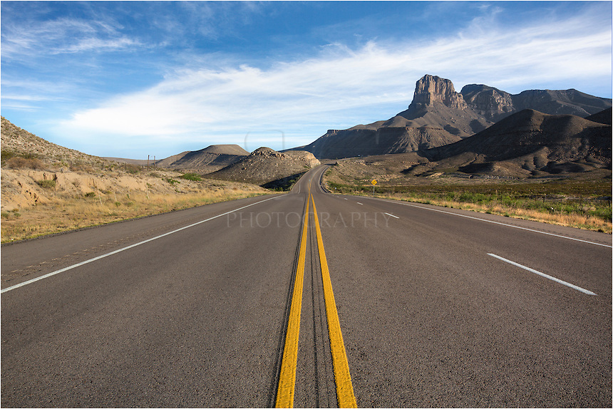 As you approach Guadalupe Mountains National Park, you have a great view of the 8th tallest peak in Texas, El Capitan. Just behind it is the tallest peak in Texas, Guadalupe Peak, at 8749 feet. You won't see many folks out here as this park is pretty remote, but well worth the effort to get there.