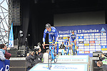 Wanty-Groupe Gobert team presented to the crowd before the start of the 60th edition of the Record Bank E3 Harelbeke 2017, Flanders, Belgium. 24th March 2017.<br /> Picture: Eoin Clarke | Cyclefile<br /> <br /> <br /> All photos usage must carry mandatory copyright credit (&copy; Cyclefile | Eoin Clarke)