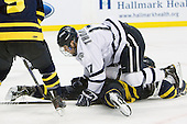 Paul Thompson (UNH - 17) , ? - The Merrimack College Warriors defeated the University of New Hampshire Wildcats 4-1 in their Hockey East Semi-Final on Friday, March 18, 2011, at TD Garden in Boston, Massachusetts.