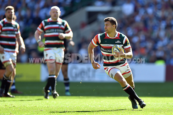 Ben Youngs of Leicester Tigers in possession. The Clash, Aviva Premiership match, between Bath Rugby and Leicester Tigers on April 8, 2017 at Twickenham Stadium in London, England. Photo by: Patrick Khachfe / Onside Images