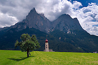 Dolomiti, Voels am Schlern, South Tyrol, June 2007.  Seiser Alm in the Dolomiti is the largest Alpine pasture in the alps.  South Tyrol used to be part of Austria until it became part of Italy after WWI. Photo by Frits Meyst/Adenture4ever.com