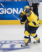 ?, Bobby Kramer (Merrimack - 10) - The University of Notre Dame Fighting Irish defeated the Merrimack College Warriors 4-3 in overtime in their NCAA Northeast Regional Semi-Final on Saturday, March 26, 2011, at Verizon Wireless Arena in Manchester, New Hampshire.
