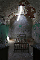 remains of an abandoned prison cell