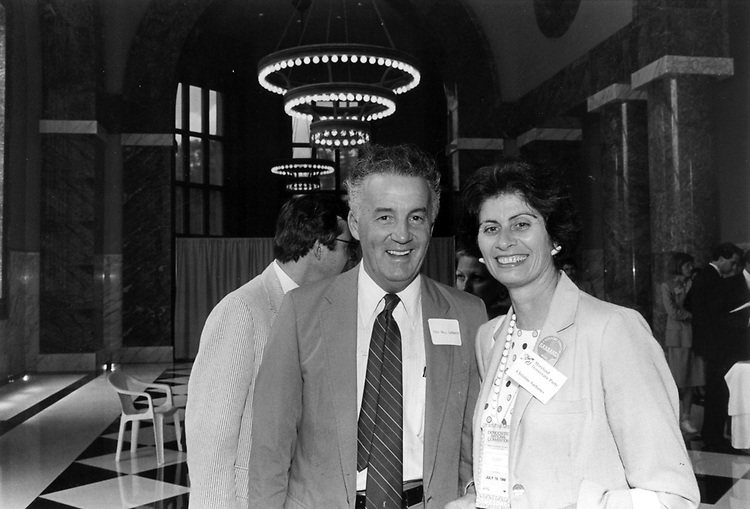 Paul Sarbanes and his wife Christine.