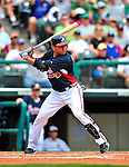 17 March 2009: Atlanta Braves' infielder Omar Infante in action during a Spring Training game against the New York Mets at Disney's Wide World of Sports in Orlando, Florida. The Braves defeated the Mets 5-1 in the Saint Patrick's Day Grapefruit League matchup. Mandatory Photo Credit: Ed Wolfstein Photo