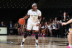 25 February 2016: Wake Forest's Amber Campbell. The Wake Forest University Demon Deacons hosted the Virginia Tech Hokies at Lawrence Joel Veterans Memorial Coliseum in Winston-Salem, North Carolina in a 2015-16 NCAA Division I Women's Basketball game. Virginia Tech won the game 54-48.