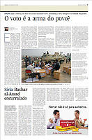 Tearsheet (Feature story) of &quot;Egypt: O voto &eacute; a arma do povo?&quot; published in Expresso