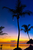 Sunset, Kona Kai Resort, Key Largo, Florida Keys, Florida USA