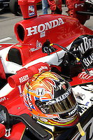 11 September, 2005, Joliet,IL,USA<br /> Dan Wheldon's helmet and car.<br /> Copyright&copy;F.Peirce Williams 2005