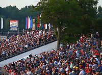 Jun 10, 2016; Englishtown, NJ, USA; NHRA fans in the grandstands during qualifying for the Summernationals at Old Bridge Township Raceway Park. Mandatory Credit: Mark J. Rebilas-USA TODAY Sports