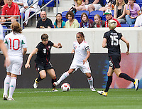 Amy LePeilbet, Maribel Dominguez, Megan Rapinoe. The USWNT defeated Mexico, 1-0, during the game at Red Bull Arena in Harrison, NJ.