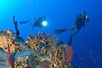 Divers at Vertigo in Annaly Bay, St. Croix, US Virgin Islands