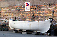 Barca sulla banchina. Boat on the quay......