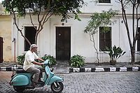 A scooter rider at the French colony in Pondicherry.Arindam Mukherjee