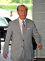 September 2, 2011, Tokyo, Japan - Takeshi Maeda, appointed as minister of of Land, Infrastructure, Transport and Tourism, arrives at Kantei, prime ministers official residence, in Tokyo on Friday, September 2, 2011. Japans new Prime Minister Yoshihiko Noda has appointed his first cabinet ministers, picking up younger and relatively unknown members of his ruling Democratic Party of Japan into some key positions. (Photo by Natsuki Sakai/AFLO)