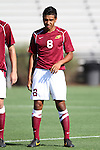 30 August 2013: Elon's Miguel Salazar. The Elon University Phoenix played the Northeastern University Huskies at Koskinen Stadium in Durham, NC in a 2013 NCAA Division I Men's Soccer match. The game ended in a 1-1 tie after two overtimes.