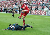 15 September 2012: Philadelphia Union midfielder Amobi Okugo #14 and Toronto FC defender Logan Emory #2 in action during an MLS game between the Philadelphia Union and Toronto FC at BMO Field in Toronto, Ontario Canada. .