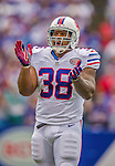 14 September 2014: Buffalo Bills fullback Frank Summers prepares for the start of play against the Miami Dolphins at Ralph Wilson Stadium in Orchard Park, NY. The Bills defeated the Dolphins 29-10 to win their home opener and start the season with a 2-0 record. Mandatory Credit: Ed Wolfstein Photo *** RAW (NEF) Image File Available ***