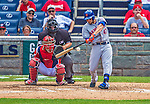 26 July 2013: New York Mets outfielder Andrew Brown in action against the Washington Nationals at Nationals Park in Washington, DC. The Mets shut out the Nationals 11-0 in the first game of their day/night doubleheader. Mandatory Credit: Ed Wolfstein Photo *** RAW (NEF) Image File Available ***