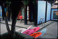 """Fengdu, China, August 2003.A temple in the """"ghost City"""".."""