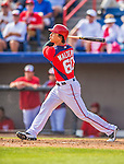 9 March 2013: Washington Nationals infielder Zach Walters in action during a Spring Training game against the Miami Marlins at Space Coast Stadium in Viera, Florida. The Nationals edged out the Marlins 8-7 in Grapefruit League play. Mandatory Credit: Ed Wolfstein Photo *** RAW (NEF) Image File Available ***