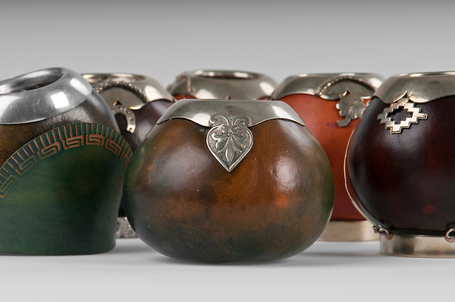 Calabash cups for drinking mate, a traditional drink in Argentina, Uruguay, Paraguay and south of Brazil.