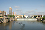 Minnesota, Twin Cities, Minneapolis-Saint Paul: St. Anthony Falls on the Mississippi River..Photo mnqual244-75166..Photo copyright Lee Foster, www.fostertravel.com, 510-549-2202, lee@fostertravel.com.