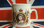 Silver Jubilee Mug Queen Elizabeth 1977.Union jack Flag.