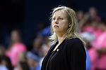 19 February 2015: Wake Forest head coach Jen Hoover. The University of North Carolina Tar Heels hosted the Wake Forest University Demon Deacons at Carmichael Arena in Chapel Hill, North Carolina in a 2014-15 NCAA Division I Women's Basketball game.