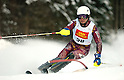Akira Sasaki (JPN), DECEMBER 19, 2011 - Alpine Skiing : Audi FIS Alpine Ski World Cup Men's Slalom in Alta Badia, Italy. (Photo by Hiroyuki Sato/AFLO)