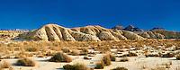 Bardena Blanca rock formations Bardenas Reales de Navarra Natural Park. A UNESCO World Heritage Site