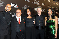 NEW YORK, NY - OCTOBER 19: (L-R) Swizz Beats, Clive Davis, Keep A Child Alive co-founder and singer Alicia Keys, Peter Twyman and Padma Lakshmi  attend Keep A Child Alive's Black Ball 2016 at Hammerstein Ballroom on October 19, 2016 in New York City. Photo by John Palmer/MediaPunch