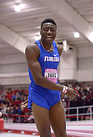 NWA Democrat-Gazette/BEN GOFF @NWABENGOFF<br /> Grant Holloway of Florida competes in the long jump invitational Friday, Feb. 10, 2017 during the Tyson Invitational at the Randal Tyson Track Complex in Fayetteville. Holloway was second in the event with a jump of 25 feet, 8 and three-quarter inches.