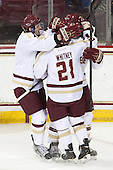 Travis Jeke (BC - 8) - The Boston College Eagles and University of New Hampshire Wildcats tied 4-4 on Sunday, February 17, 2013, at Kelley Rink in Conte Forum in Chestnut Hill, Massachusetts.