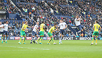 Preston North End's Tommy Spurr scores his sides first goal  <br /> <br /> Photographer Mick Walker/CameraSport<br /> <br /> The EFL Sky Bet Championship - Preston North End v Norwich City - Monday 17th April 2017 - Deepdale - Preston<br /> <br /> World Copyright &copy; 2017 CameraSport. All rights reserved. 43 Linden Ave. Countesthorpe. Leicester. England. LE8 5PG - Tel: +44 (0) 116 277 4147 - admin@camerasport.com - www.camerasport.com
