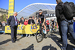 Luke Rowe (WAL) Team Sky at sign on for the 115th edition of the Paris-Roubaix 2017 race running 257km Compiegne to Roubaix, France. 9th April 2017.<br /> Picture: Eoin Clarke | Cyclefile<br /> <br /> <br /> All photos usage must carry mandatory copyright credit (&copy; Cyclefile | Eoin Clarke)