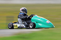 Henry Ham, 60, races in the Rotax Heavy class during the 2012 Superkart National Champs and Grand Prix at Manfeild in Feilding, New Zealand on Saturday, 7 January 2011. Credit: Hagen Hopkins.