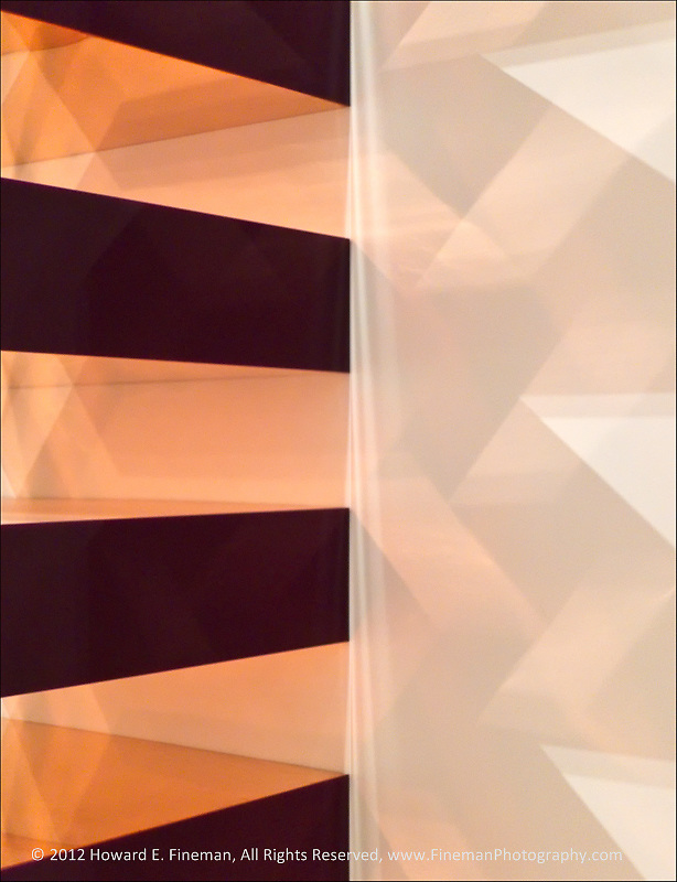 "This is a segment of the Donald Judd ""box tower"" on display at Boston's Museum of Fine Art. The reflections and shadows from each plane of the sculpture have been emphasized to show the complex interplay of light and shadow."
