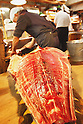 File photo - A Japanesefisherman cutting a tuna , Sep 5th 2008 : In the early morning, fishermen starts selling their fresh fish at the fish market in Tsukiji, Japan. (Photo by Takuya Matsunaga/AFLO)