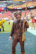 Landover, MD - September 24, 2016: West Virginia Mountaineers mascot during game between BYU and WVA at  FedEx Field in Landover, MD.  (Photo by Elliott Brown/Media Images International)