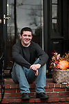 CANTON, MA.-- November 27, 2009--Brendan Burke at his mother Kerry's home in Canton, Massachusetts. Burke, son of Maple Leaf's general manager Brian Burke, revealed in and ESPN.com article that he was gay. Burke, who died Feb. 5, 2010, in a car accident in Indiana, was student manager of the Miami University hockey team. PHOTO BY JODI HILTON
