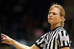 11 February 2013: Referee Dee Kantner. The Duke University Blue Devils played the University of Maryland Terrapins at Cameron Indoor Stadium in Durham, North Carolina in an NCAA Division I Women's Basketball game. Duke won the game 71-56.