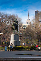 Statue of George Washington in the park of Union Square in Manhattan, New York City