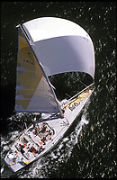 BNPS.co.uk (01202 558833)<br /> Pic: RickTomlinson/BNPS<br /> <br /> ***Please use full byline*** <br /> <br /> Aerial shot: Tracy Edwards' Maiden, Whitbread Round the World Race 1989-90.<br /> <br /> A boat that sailed into the history books 27 years ago but subsequently ran to ruin has been rescued by its former skipper and is now due to arrive home. <br /> <br /> Sailing heroine Tracy Edwards hit headlines in 1990 after leading the first all-female crew to the finish line of the prestigious Whitbread Round the World Race.<br /> <br /> When Miss Edwards, 54, checked up on the boat, called Maiden, in 2014 she was &quot;shocked&quot; and &quot;saddened&quot; to find it in a state of complete disrepair. <br /> <br /> After a successful fundraising campaign Maiden is scheduled to take to the seas once again June 2018 after being returned to her to her former glory.