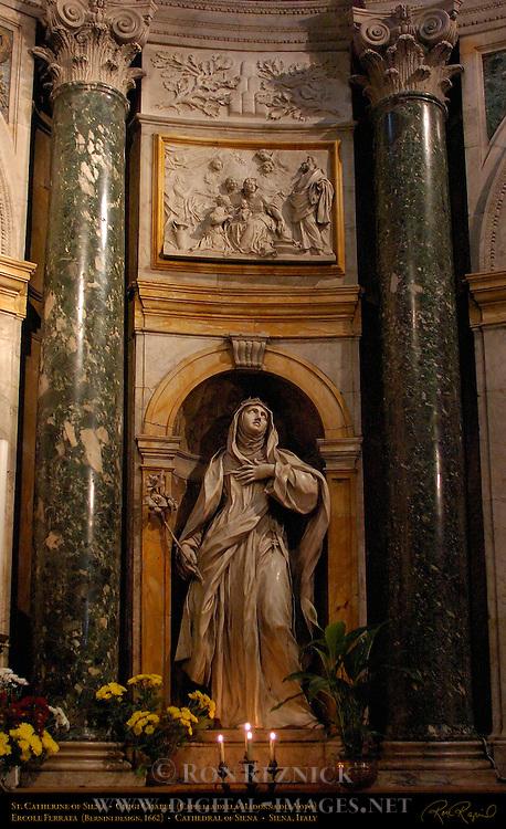 St. Catherine of Siena, Ercole Ferrata 1662, Chigi Chapel, Cathedral of Siena, Santa Maria Assunta, Siena, Italy